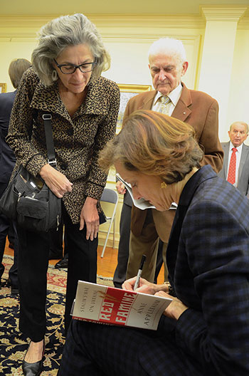 "Among those attending the Antonovych Award presentation who brought a copy of Anne Applebaum's ""Red Famine: Stalin's War on Ukraine"" for the author to sign was Laryssa Kurylas, the designer of the Holodomor Memorial in Washington."