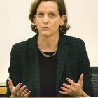 Anne M. Applebaum lectures at Harvard's Center for Government and International Studies.