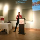 "Anne Applebaum speaks at The Ukrainian Museum about her latest book, ""Red Famine: Stalin's War on Ukraine."""