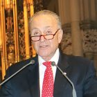 Sen. Chuck Schumer speaks in St. Patrick's Cathedral during the Holodomor commemoration on November 18.
