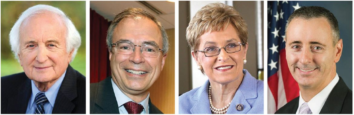 Congressional Ukrainian Caucus co-chairs, (from left) Reps. Sander Levin, Andy Harris, Marcy Kaptur and Brian Fitzpatrick.
