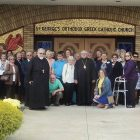 Delegates visit St. George Orthodox Church in Taylor, Pa., to venerate the Myrrh-Streaming Icon of the Blessed Mother.