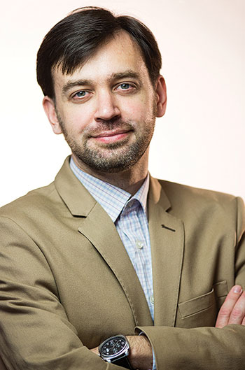 Yevhen Fedchenko, director of the Mohyla School of Journalism and co-founder/chief editor of StopFake.org.