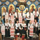 The choir of the Assumption of the Blessed Virgin Mary Ukrainian Catholic Church during a concert in 2016.