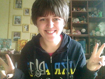Kateryna Basiuk, a student of the National University of Ostroh Academy.