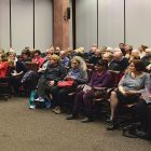 Attendees at the 20th Toronto Annual Ukrainian Famine Lecture at the University of Toronto on November 28, 2017.