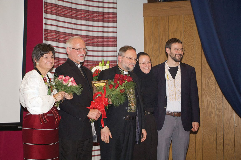 The Lonchyna family (from left): Jaroslava Lonchyna, the Rev. Taras Lonchyna, Bishop Hlib Lonchyna, Sister Iliana (Lonchyna) and Bohdan Lonchyna.