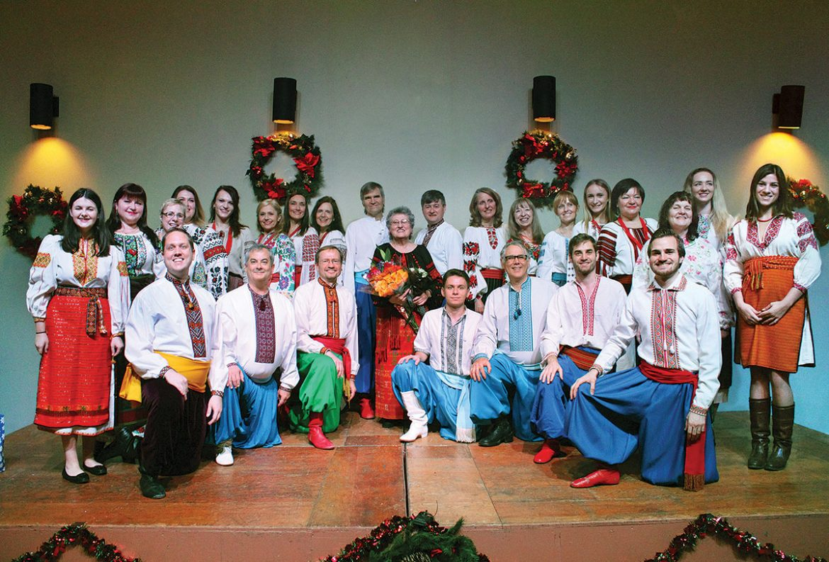 Performers of the Promin Ensemble with director Bohdanna Wolanska in the center.