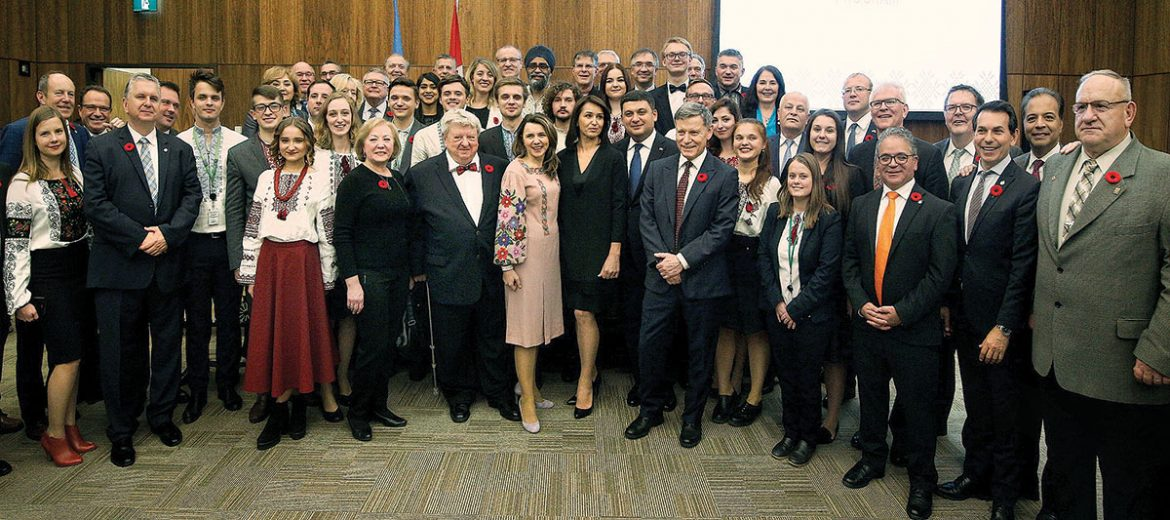 Interns of the Canada-Ukraine Parliamentary Program on Parliament Hill in Ottawa gathered on the occasion of the Prayer for Peace in Ukraine and Throughout the World.