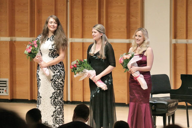 "Oksana Dyka, Angelina Gadeliya and Solomiya Ivakhiv at the concert ""Ukraine, Shevchenko & Music"" that took place on December 7 at Merkin Hall."