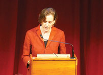 Anne Applebaum delivers the annual Ukrainian Famine Lecture in Toronto on October 9.