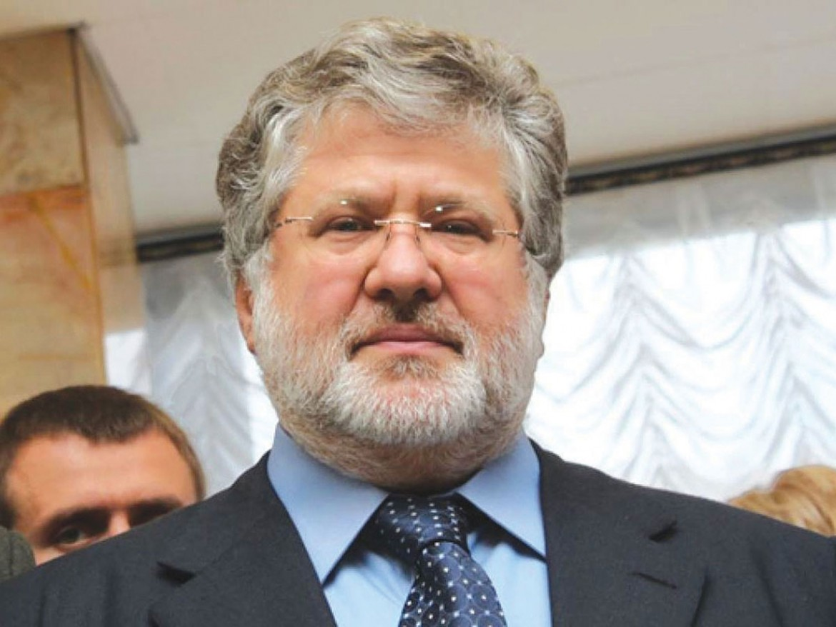 Billionaire Igor Kolomoisky submitted his resignation as head of the Dnipropetrovsk State Oblast Administration on March 24. This photo was posted on Facebook the next day.
