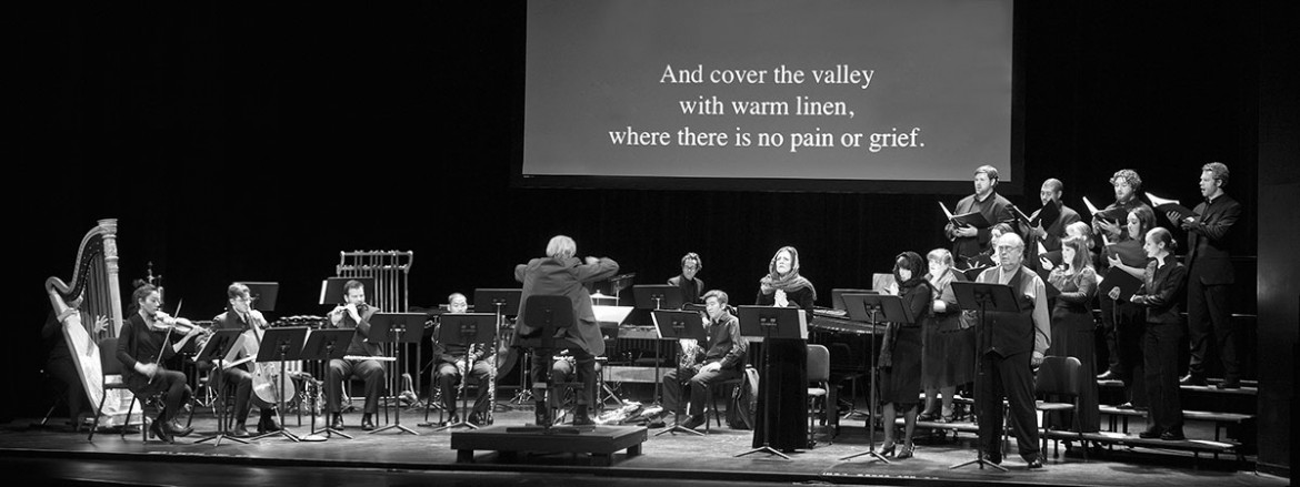 """Virko Baley conducts the New York premiere of the concert version of his opera """"Holodomor. Red Earth. Hunger."""" On February 5 at John Jay College's Gerald W. Lynch Theater."""
