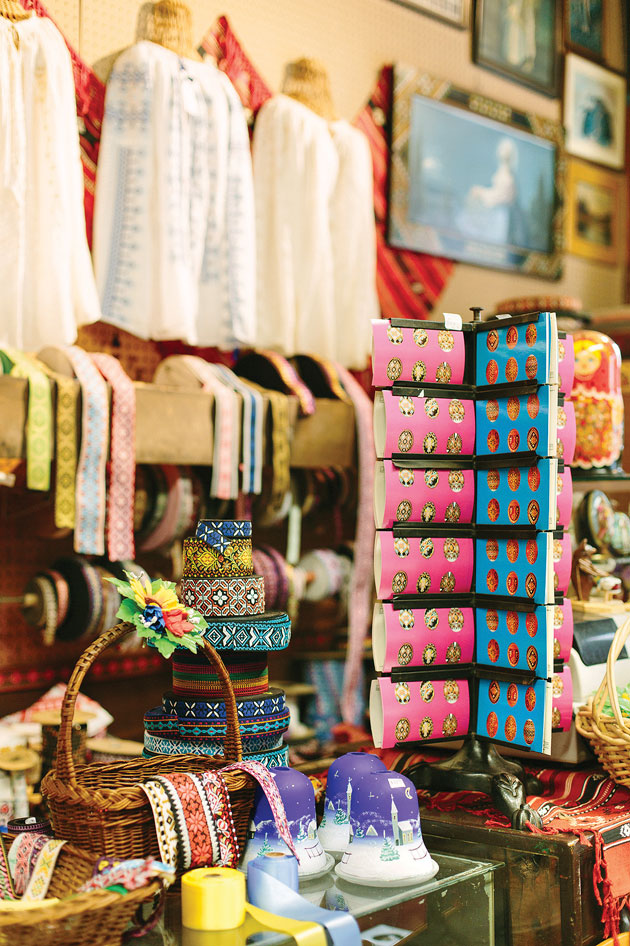 Ukrainian blouses and other wares at Surma.
