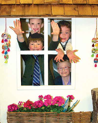 A house full of fun in the children's corner.
