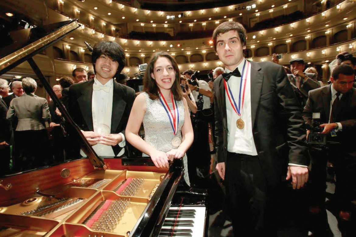 Vadym Kholodenko of Ukraine (right) winner of  the 14th Van Cliburn International Piano Competition held  May 24 through June 9 in Fort Worth, Texas.