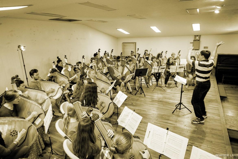 Kobzarska Sich 2014 in action with a full-ensemble rehearsal lead by Yurij Petlura.