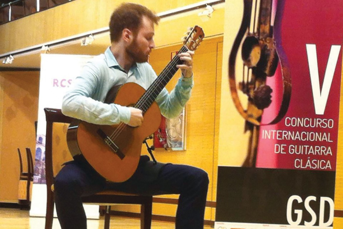 Marko Topchii competes on classical guitar in Madrid at the International Gredos San Diego Classical Guitar Competition.