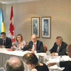 OTTAWA – The Embassy of Ukraine in Canada, in coordination with the Canada Ukraine Chamber of Commerce and the Ukrainian Canadian Congress, on July 14 organized a business leaders' roundtable discussion with Prime Minister Arseniy Yatsenyuk of Ukraine. The discussion coincided with the prime minister's visit to Ottawa on July 14 to sign the Canada-Ukraine Free Trade Agreement. A roundtable with community leaders was held after the business roundtable. – Ukrainian Canadian Congress