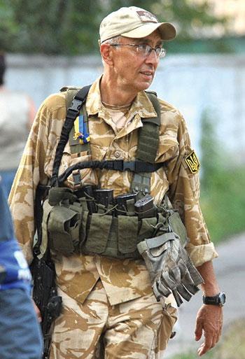 Markian Paslawsky on the battlefront.