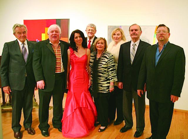 """Attending """"An Afternoon at the Opera"""" (from left) are Dr. Paul Nadzikewycz, Stefan Szkafarowsky, Marta Zaliznyak-Derzhko, Orest Hrynewycz, Motria Melnyk, Orysia Kossak-Cardoso, Mychailo Holian and Jeffrey Panko."""