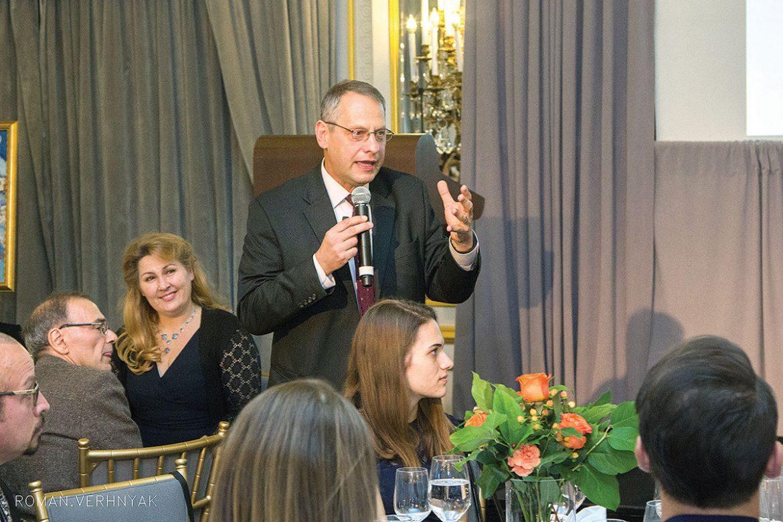 Dr. Boris Lushniak addresses the New York City fund-raiser.