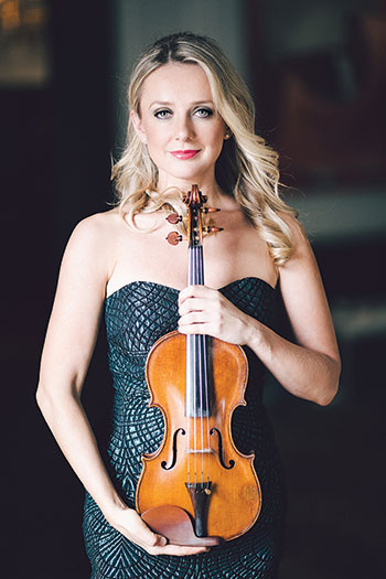 Violinist Solomiya Ivakhiv in February released a CD recording of 20th and 21st century Ukrainian music for violin and piano that was ranked in the top six classical music albums on iTunes.