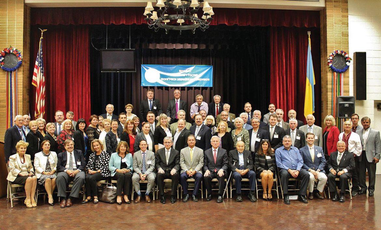 Delegates at the XXII Congress of Ukrainians of the Ukrainian Congress Committee of America at the Ukrainian National Home in Hartford, Conn., on September 23-25.