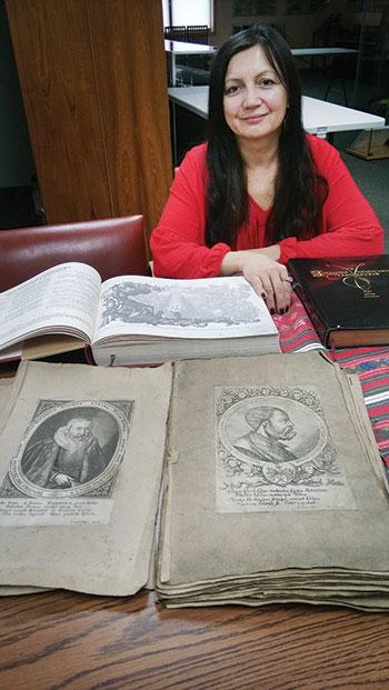Valentyna Bochkovska-Martynovych, director of the Museum of Book and Printing of Ukraine.