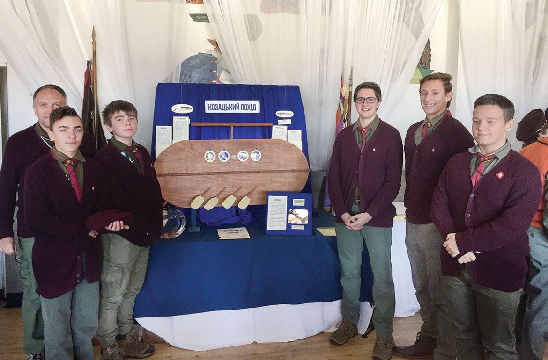 The boys' team that won second place at Orlykiada for their demonstration of Kozak marine warfare.