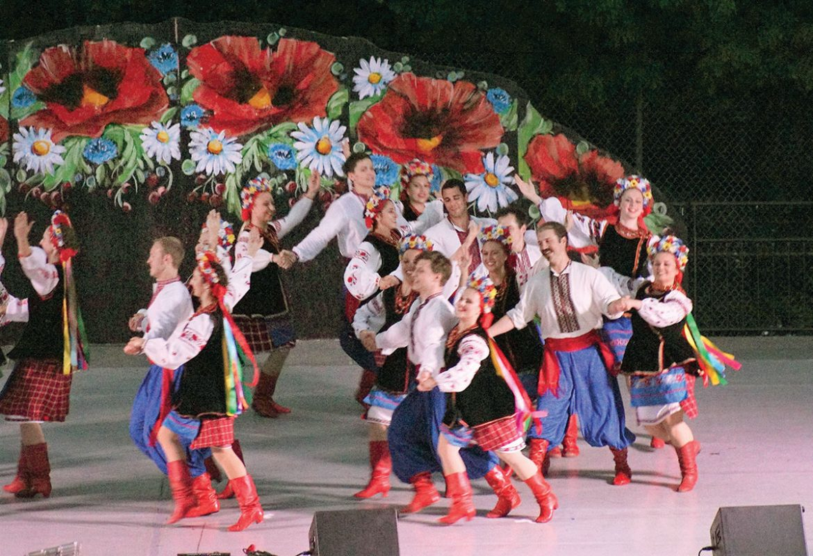 """The much-anticipated """"Hopak"""" is performed by the workshop dancers."""