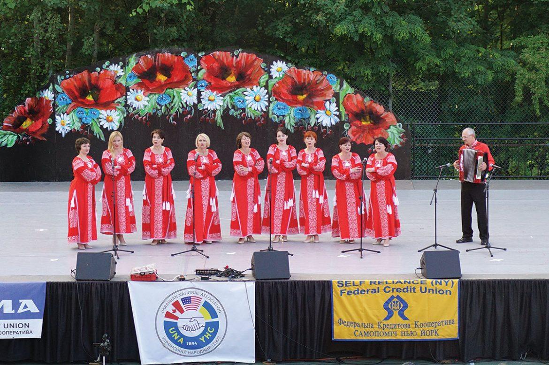 The Lanka Halychanka women's vocal ensemble.