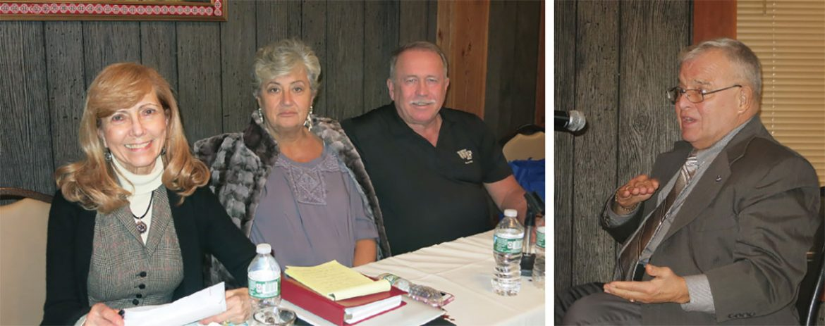 Participating in the annual meeting (from left) are: Luba Walchuk, Bohdana Puzyk, Eugene Serba and Andrij Szul.
