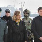 Maritime Guard of the State Border Guard Service of Ukrainian with Kristina Kvien