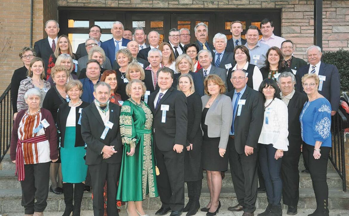 Group photo of the Delegates at the 31st National Convention of the Organization for the Defense of Lemkivshchyna in Yonkers, N.Y.